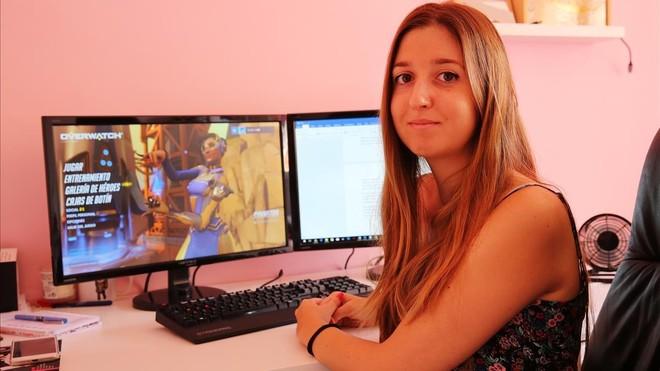 Marina Amores, promotora del encuentro de videojuegos solo para chicas Gaming Ladies, que se celebrará en Barcelona el próximo jueves.