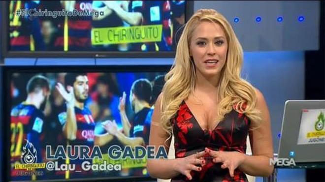 Laura Gadea, la nueva voz del espectador de 'El Chiringuito de los Jugones'.