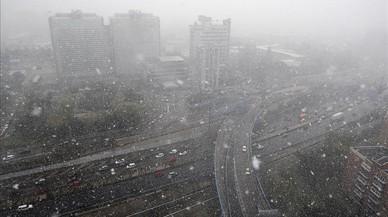 La neu reapareix a Madrid després de dos anys