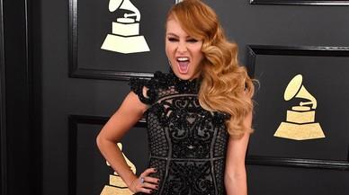 La cantante Paulina Rubio, en los Grammy, el pasado 12 de febrero en Los Ángeles.