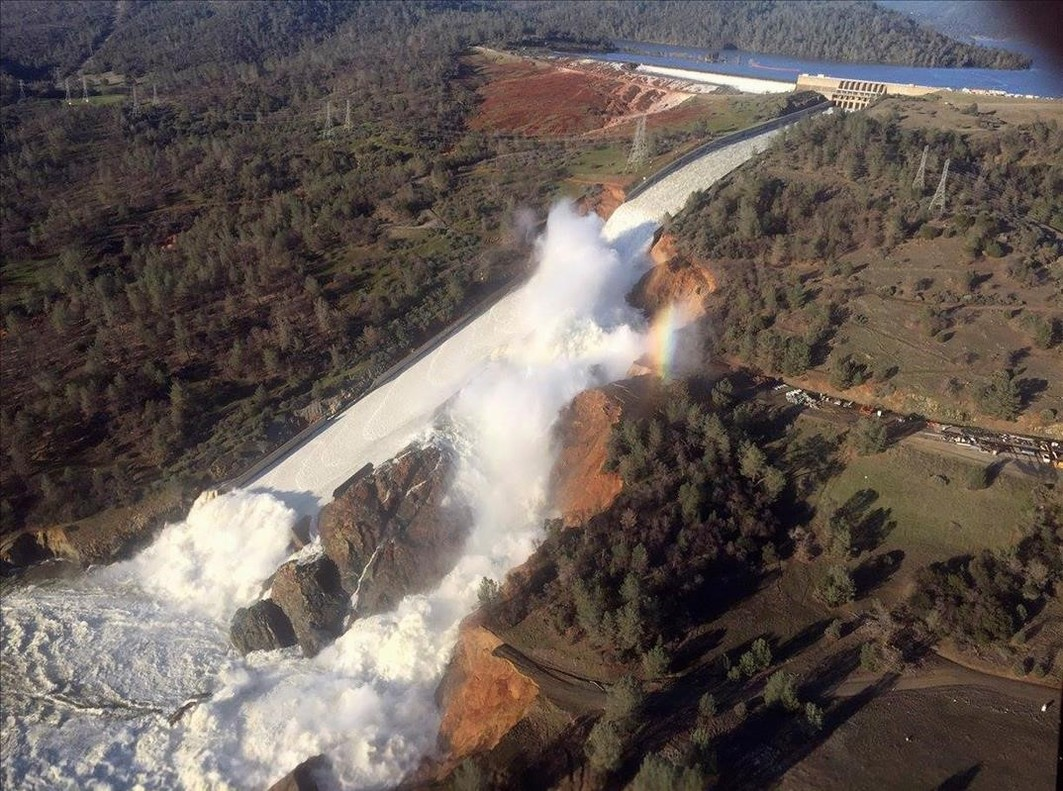 lpedragosa37274962 a damaged spillway with eroded hillside is seen in an aerial170213215714