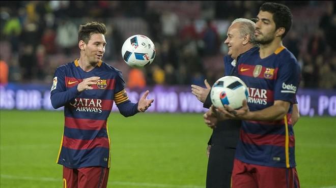 Messi y Luis Suarez.