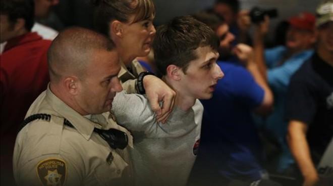 Michael Sandford en el momento de su detenci�n en el casino Treasure Island de Las Vegas.