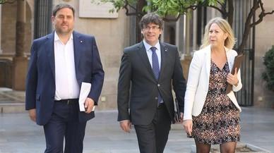 El Govern prepara un acto de cohesión a favor del referéndum esta semana frente a la crisis interna de JxSí