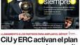 La consulta soberanista de Catalunya y Messi dominan en las portadas