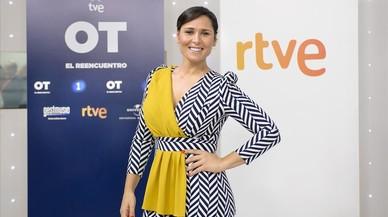 La cantante Rosa L�pez, en la presentaci�n de 'OT, el reencuentro' de TVE.
