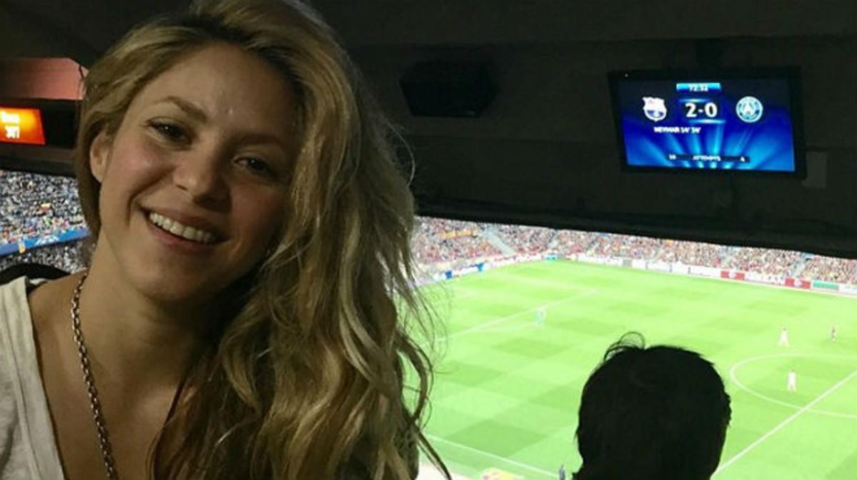 Shakira, en una de las múltiples imágenes que ha colgado en su Instagram desde el Camp Nou.