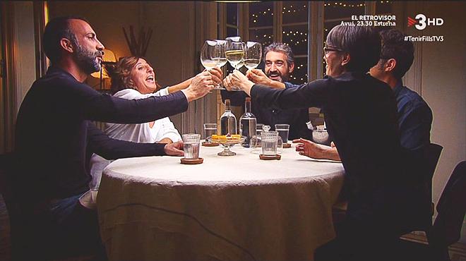 Simpática reunión, pero escasa cena, en 'El sopar' de TV-3.