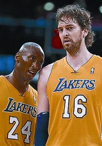 Bryant y Gasol.