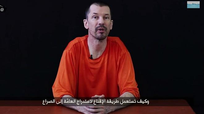 Nuevo v�deo del fot�grafo brit�nico secuestrado por EI