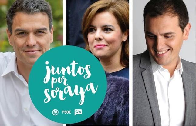Montaje de la hipotética candidatura de Soraya Saenz de Santamaría como presidenta de España.