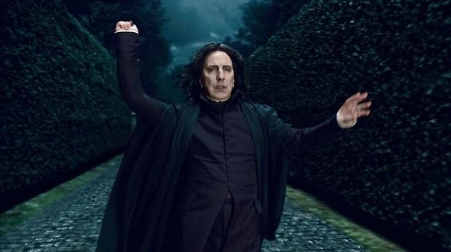 Alan Rickman, en el papel de Severus Snape, en Harry Potter.