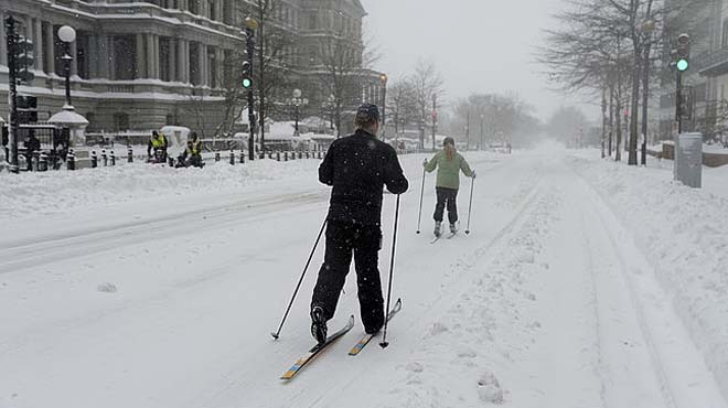 Las nevadas en EEUU dejan imágenes inéditas