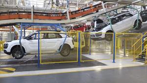 La planta de producción de Villaverde, en Madrid, donde se fabrica el Citroën C4 Cactus.