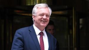 El ministro para el brexit, David Davis.