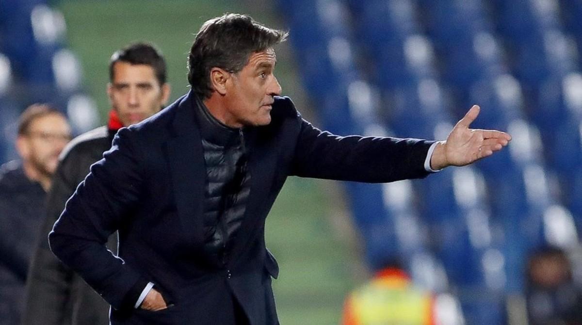 Michel González, ya exentrenador del Málaga.