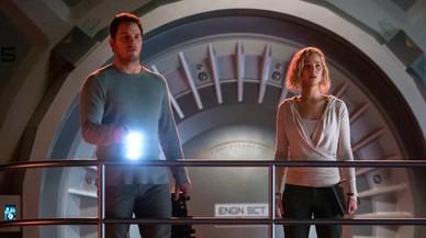Jennifer Lawrence i Chris Pratt en la nau espacial de l'amor