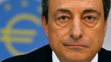 FILE PHOTO: European Central Bank President Draghi speaks during the bank's monthly news conference in Frankfurt