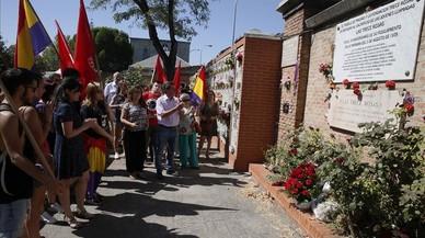 Homenaje a las Trece Rosas en el 78º aniversario de su fusilamiento