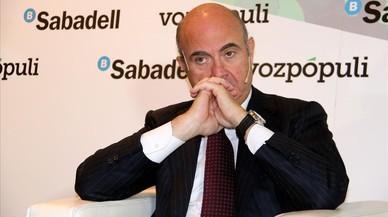 Guindos assegura que els clients dels bancs catalans no tenen res a témer