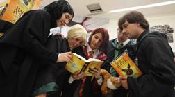 Lectores de Harry Potter, en Barcelona.