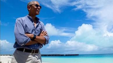 Barack Obama se retira al paraíso tahitiano de Marlon Brando