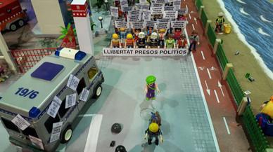 Expoclick Amposta retira una maqueta que representaba una manifestación por los presos independentistas