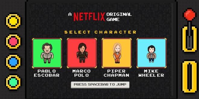 'Netflix Infinite Runner' permite escoger entre cuatro protagonistas.