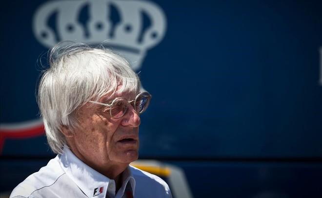 Ecclestone, en un Gran Premio de F-1 en Valencia.
