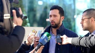 Valtonyc, después de declarar en la Audiencia Nacional el pasado 8 de febrero.