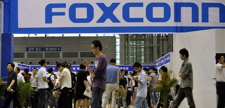 Estand de Foxconn en una feria de empleo en China ARCHIVO / AP PHOTO