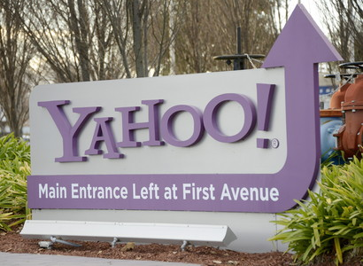 La entrada al cuartel general de Yahoo!, en Sunnyvale (California).