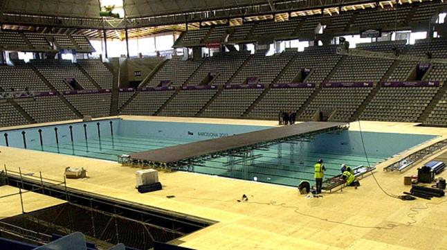 Barcelona prima el espect culo en los mundiales de nataci n for Piscina olimpica barcelona