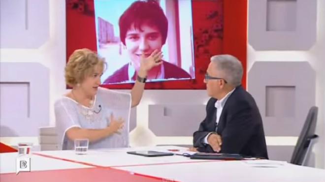 Un fragmento de la entrevista en 'El pla Sard�' de BTV donde Rahola explica la an�cdota con Juan Carlos I.