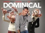 Javier Fesser, entre Filem�n y Mortadelo, en la portada de 'Dominical' del 23 de noviembre.