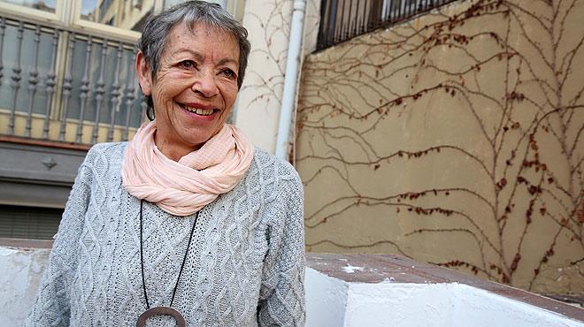 Declaraciones de Maria Ant�nia Oliver tras recibir el Premi d'Honor de les Lletres Catalanes