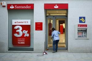Oficina del Banco Santander en una localidad andaluza.