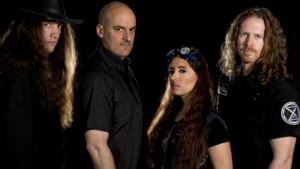 El grupo The Sound of Thunder, autores de una versión heavy de Els Segadors