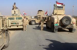 Las Fuerzas Armadas de Irak durante la operación militar que pretendía arrebatar a los yihadistas la ciudad de Rawa.