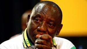 undefined41354835 deputy president of south africa cyril ramaphosa reacts afte171218190125