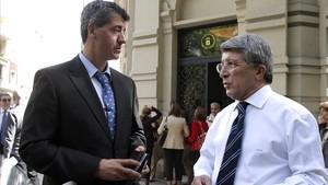Miguel Ángel Gil Marín y Enrique Cerezo, consejero delegado y presidente del Atlético, respectivamente.