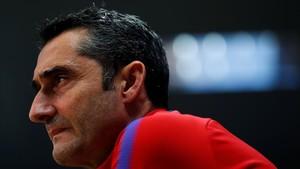 Valverde, en una conferencia de prensa en la ciudad deportiva de Sant Joan Despí.
