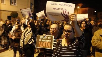 Concentración contra la violencia machista en Santa Perpètua.