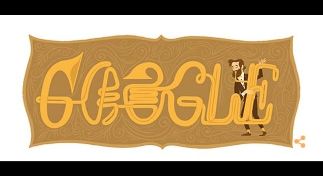 Google ret homenatge a Adolphe Sax amb un 'doodle'