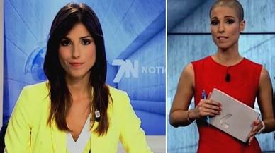La periodista Marta García González, antes y después del tratamiento de quimioterapia por un cáncer de mama.