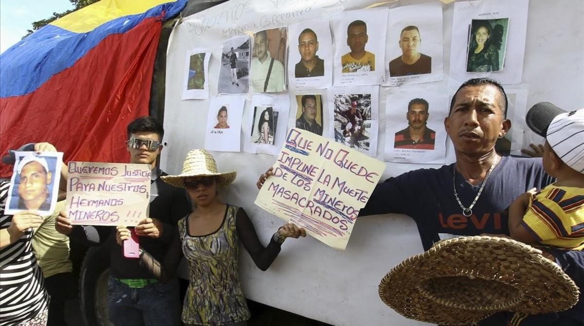 La desaparici�n de 28 mineros estremece Venezuela