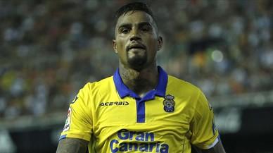 Kevin Prince Boateng, jugador del Las Palmas que ha marcado en las cuatro grandes ligas europeas.