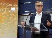 El secretario general de Ciudadanos, José Manuel Villegas, ayer en una rueda de prensa en el Congreso.