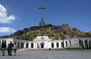 Vista exterior de la basílica delValle de los Caídos, cerca de Madrid.