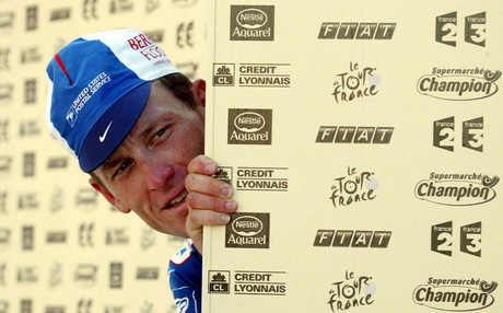La exleyenda del ciclismo Lance Armstrong.